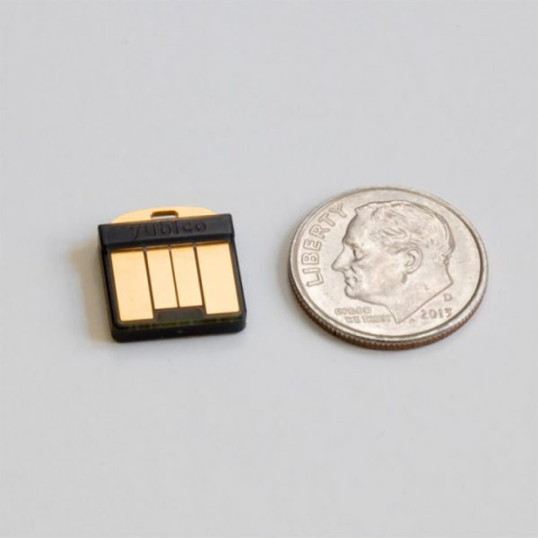 YubiKey 5 Nano fits in USB