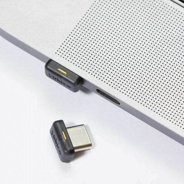 YubiKey 5C Nano with laptop