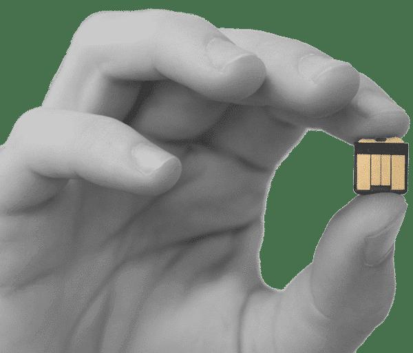 YubiHSM 2 in a hand